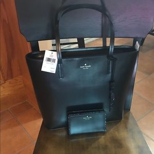Kate Spade Tote and Wallet.
